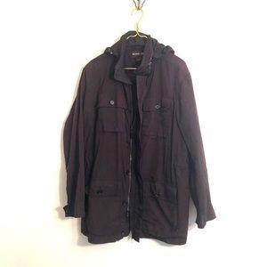 [Michael Kors] Black Waterproof Jacket - Large